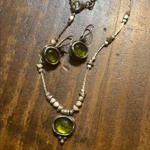 Silpada green stone